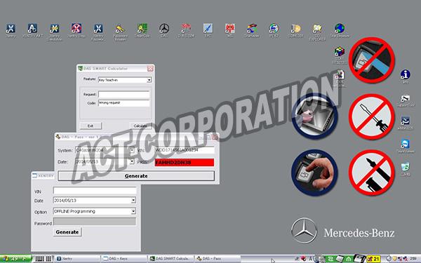 メルセデスベンツ テスター ファクトリーディベロッパーバージョンモニター画面