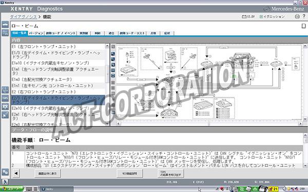メルセデスベンツ テスター ファクトリーディベロッパーバージョンモニター画面2